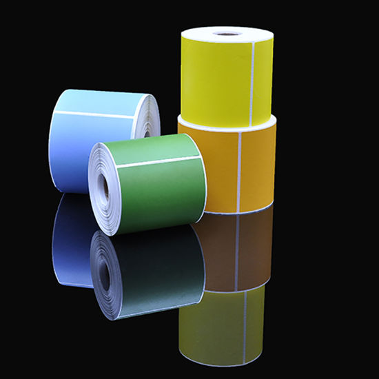 Waterproof Self Adhesive Thermal Printable Blank Colorful Paper Label Rolls for Price Tag pictures & photos
