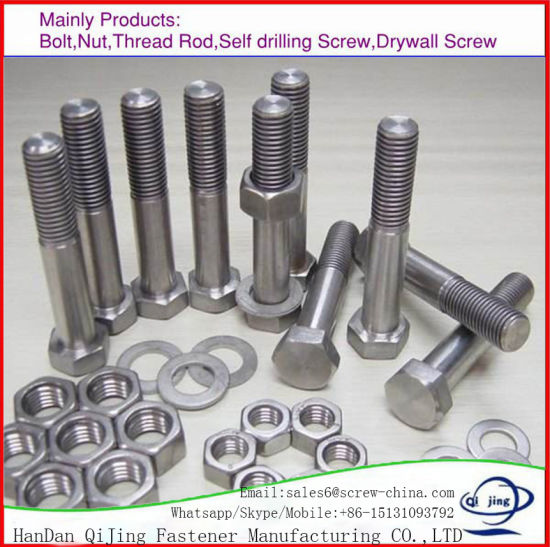 Carbon Steel J/L/I Foundation Anchor Bolt/Anchor Bolt/Hex Bolt DIN933/Hexagon Flange Bolt/T Bolt/ Lifting Eye Bolt/U Bolt/Carriage Bolt with DIN934 Nut, Zp/HDG pictures & photos