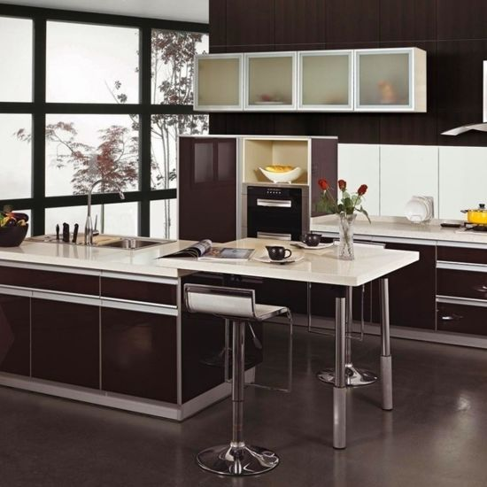 Modern Commercial Mdf Kitchen Cabinet Design High Gloss Acrylic Laminate Kitchen Cabinets China Kitchen Cabinets Kitchen Furniture Made In China Com