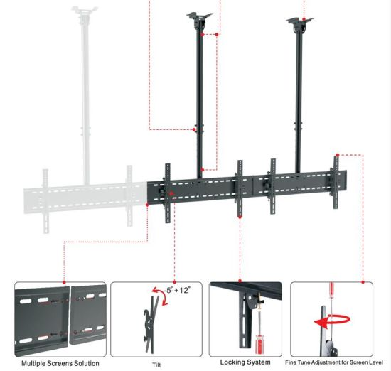 Ceiling Mount Menuboard 3-Screen Back to Back (CM 300CA) pictures & photos