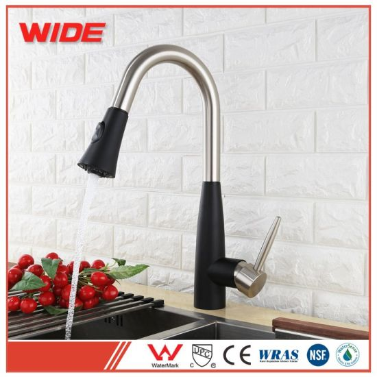 China Single Lever Hot Cold Kitchen Sinks Faucet With Pull Down