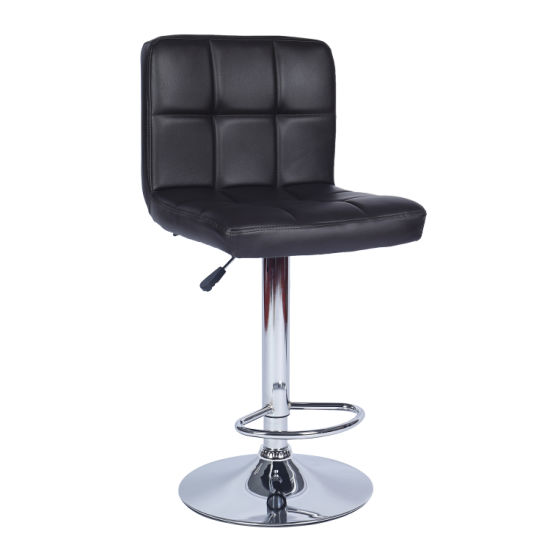 Hot Sale Cheap Swivel PU Adjustable Seat Bar Stool Chair with Pedal