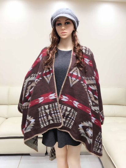 Long Hot Selling Heating Geometric Opening and Thickening Scarf
