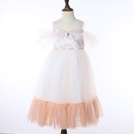 Kids Girl Princess Tulle Dress Sleeveless Lace Birthday Party Pageant Long Dress