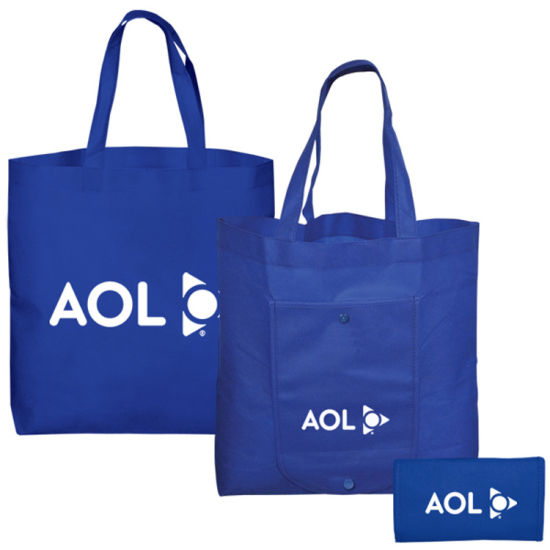 Wholesale Customized Promotional Non Woven Tote Shopping Grocey Bag, Nonwoven Foldable Bag