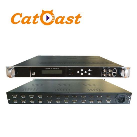 Digital Headend H 264 Encoder Modulator with DVB-T Isdbt ATSC