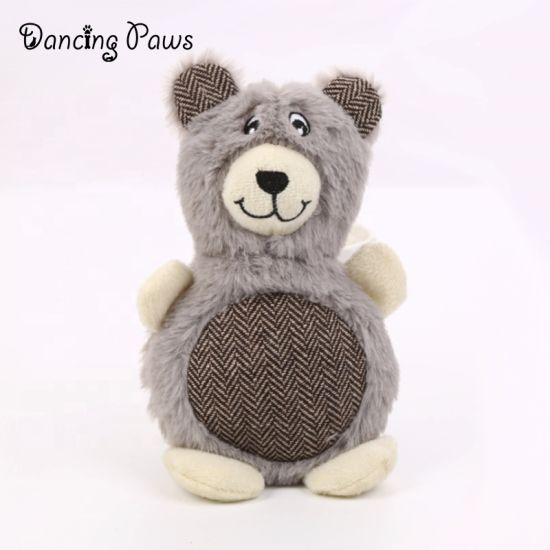 Wholesale Manufacturer Indestructible Cute Rabbit Bear Plush Squeaky Pet Toy Chewing Dog Cats Toy