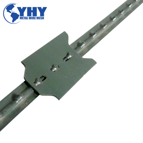 Factory Supplier Light Duty 0.95 Lb/FT Q 235 Rail Steel 3 Hole Studded T Fence Post Used for Metal Farm Fence Hot Sell