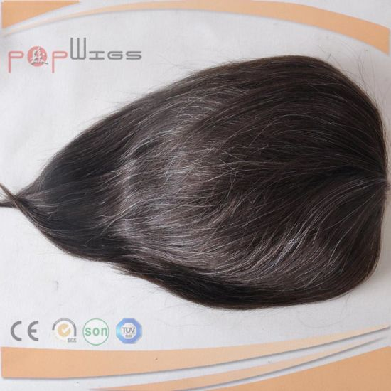 Lace Front Natural Hair Line Toupee (PPG-l-0571) pictures & photos