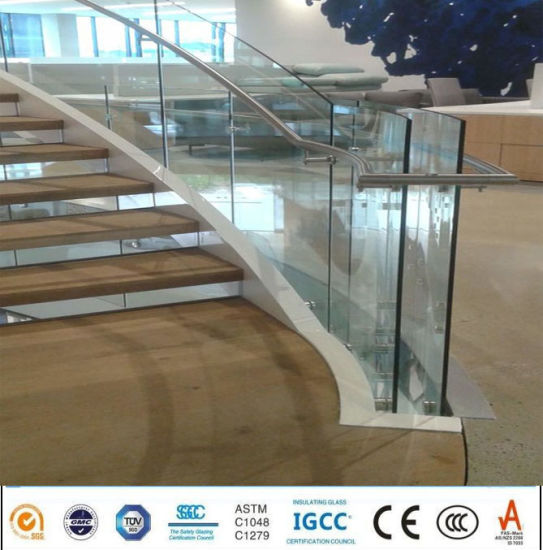 44a9941f4d8d China 10mm Curved Bending Toughened Safety Glass Railing Price ...