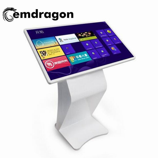 42 Inch Floor Standing LCD Touch Screen Advertising Display Kiosk with Wheel Display Self Sercice Kiosk Illuminated Advertising Boards Digital Signage Display