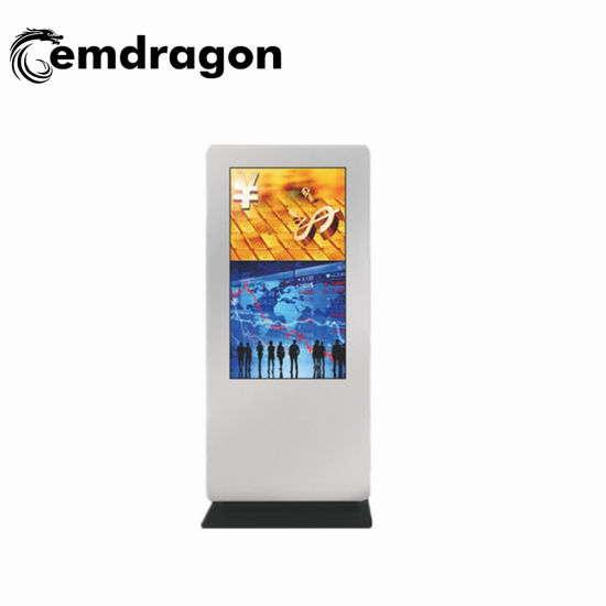 55 Inch Standing Floor Advertising Player Indoor LCD Digital Signage for Factory Use Beer Advertising Full HD 3G WiFi Ad Player Video Download