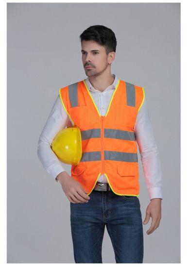 135-Svm1012 Custom Logo High Visibility Protective Reflective Roadway Safety Uniform Work Vest