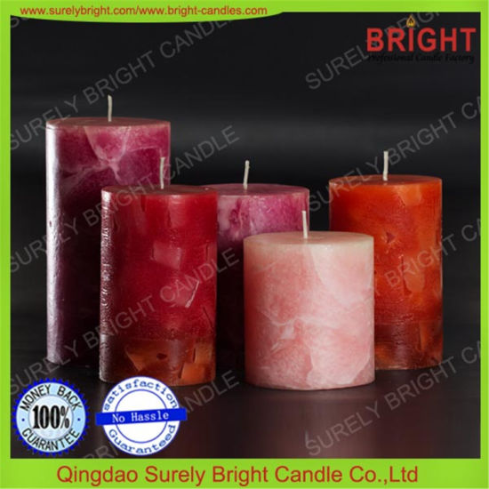 Fashionable Rustic Pillar Candle Wholesale for Wedding