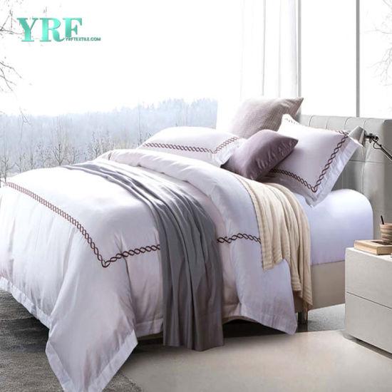 Yrf Wholesale Custom White Egyptian 100% Cotton Bed Linen King Size Luxury  Bedding