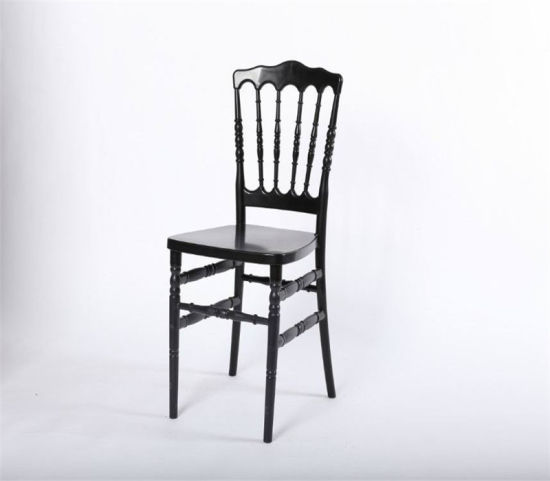 French Oak Wood Rattan Round Back Louis Stackable Dining Chairs pictures & photos
