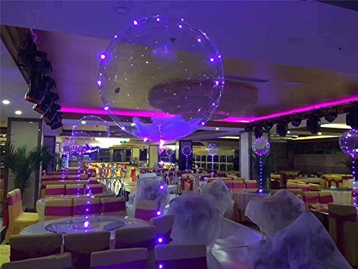 18-Inch Clear Foil Helium Bobo Balloons with Copper LED Light Bar, String Light Creative Balloon for Birthday Wedding Christmas Party Decorative pictures & photos
