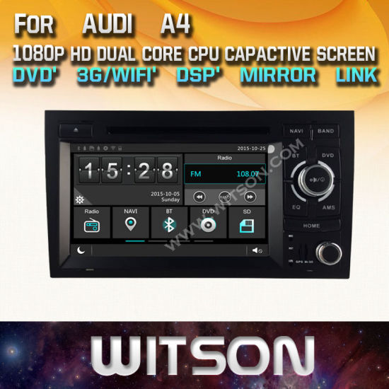 China Witson Windows Radio Stereo DVD Player for Audi A4 - China Car