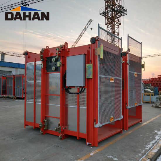 Sc200/200 0-40m/Min 2t Frequency Conversion Lift for Construction
