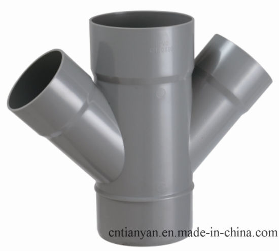 PVC-U Pipe & Fittings for Water Drainage 45 Edg Elbow (E03) pictures & photos