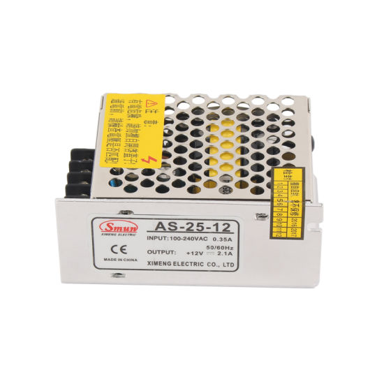 AS-25-12 25W 12V 2A Small Size Switching Power Supply SMPS pictures & photos