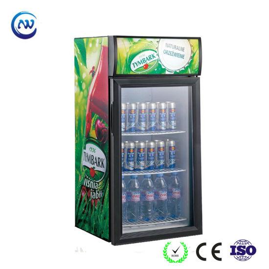 China Counter Top Beer Bar Mini Display Cooler Fridge