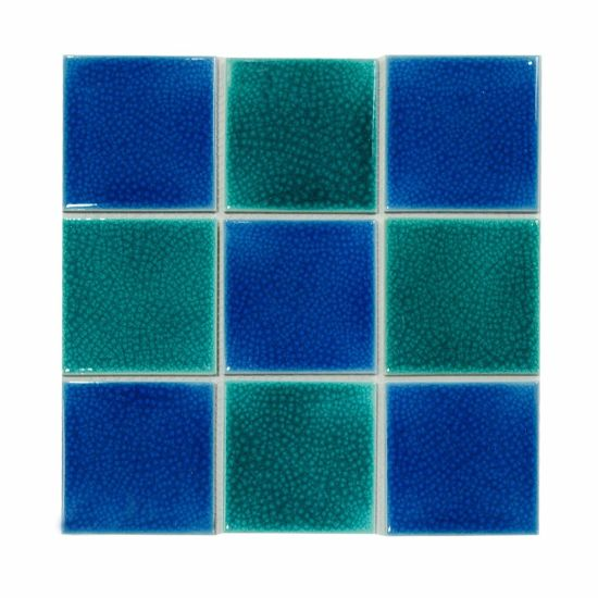 Size Blue And Green Mosaic Tiles For Swimming Pool Ceramic