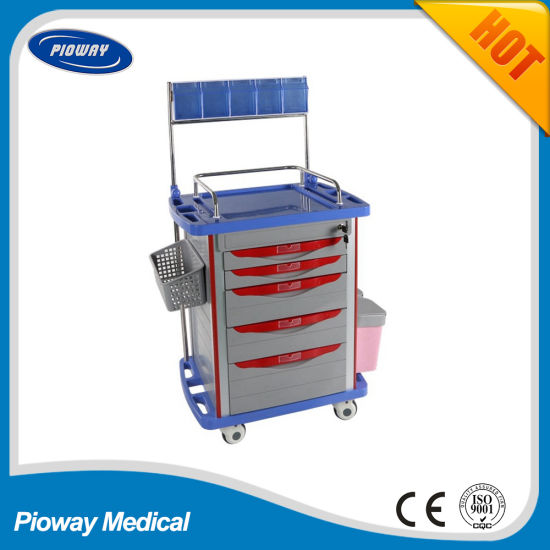 Hospital ABS Mobile Anesthesia Trolley (PW-704)