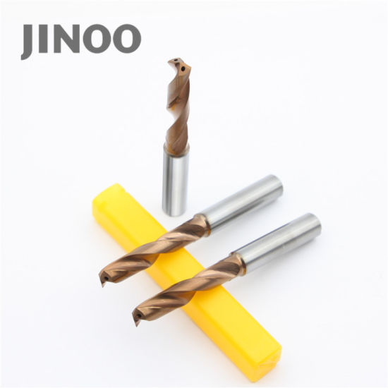 Jinoo 2flutes High Precision CNC Solid Caribide Powerful Twist Drill Bits pictures & photos