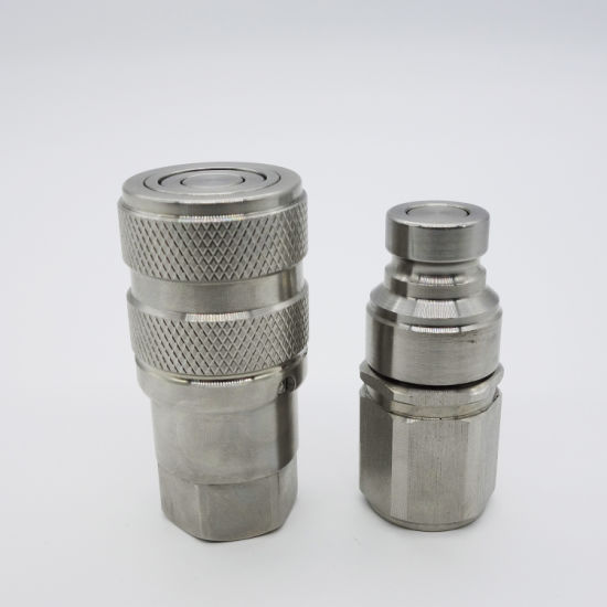 Naiwo Factory Quick Release Couplings Couplers Flat Flush Face (Stainless)
