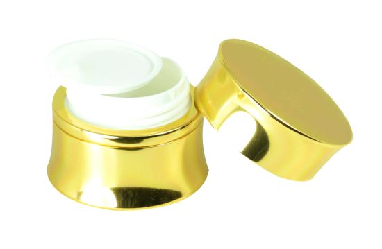 Cosmetic Aluminum Golden Color Empty Cream Jar pictures & photos