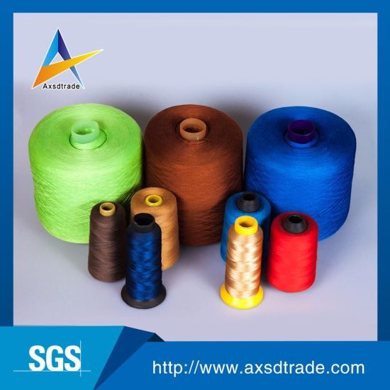 All Color 40/2 Wholesale Spun Polyester Sewing Thread Knitting Yarn pictures & photos
