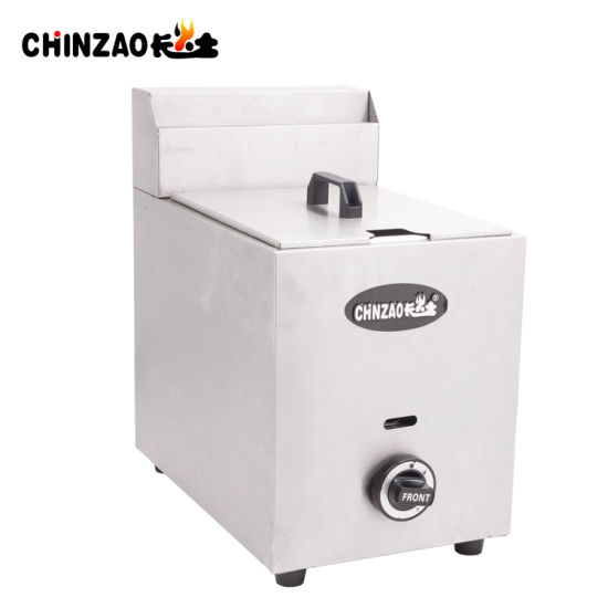 Hot Sales Commercial 10L Single Tank Countertop Gas Fryer pictures & photos