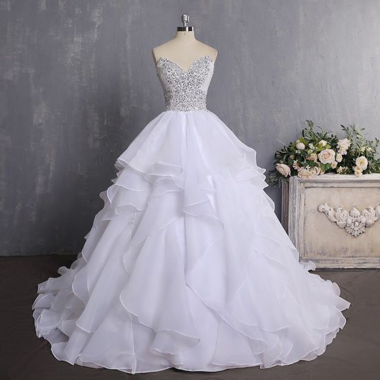 2018 China Ball Gown Vintage Luxury Top 10 Organza Crystal Wedding ...