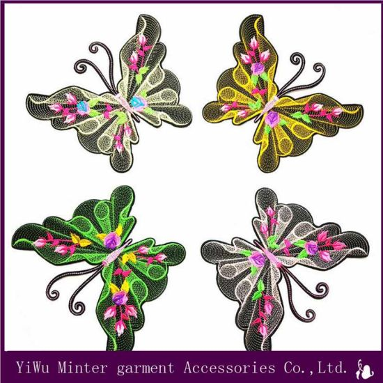 1 Set Asian Cherry Blossom Flower Sew on Embroidered Appliques Patch Sewing Applique  Embroidery Diy Accessories