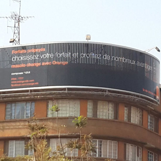 Building Roof Top Curved Advertising Prisma Billboard pictures & photos