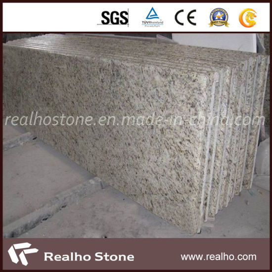 High Quality Polished Yellow Granite Brasil Giallo Ornamental Gold Granite for Countertops pictures & photos