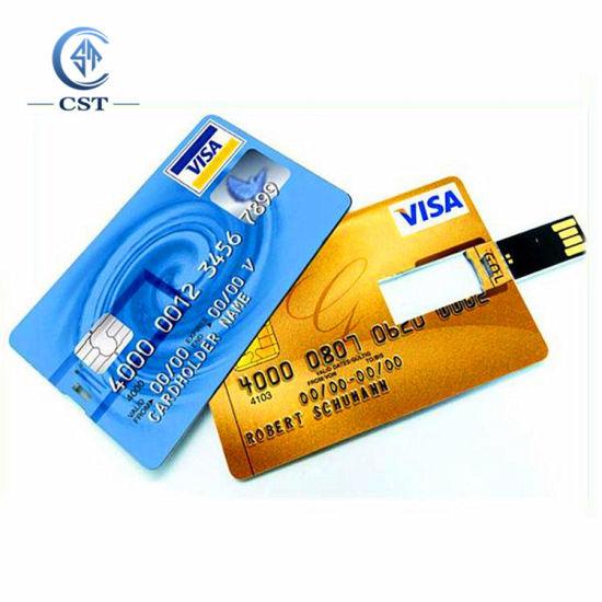 China Hot Sale High Speed Memory Credit Card USB Stick Flash