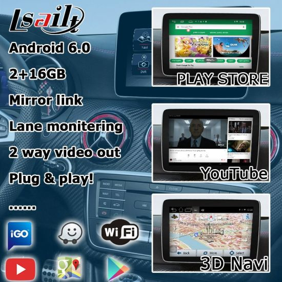 China Lsailt Android GPS Navigation System Video Interface