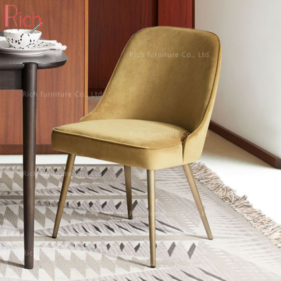 Factory Wholesale Leisure Fabric Dining Chair with Metal Leg We-09