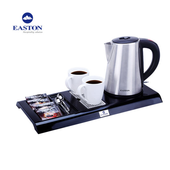Popular Hotel Cordless 1L Stainless Steel Electric Kettle