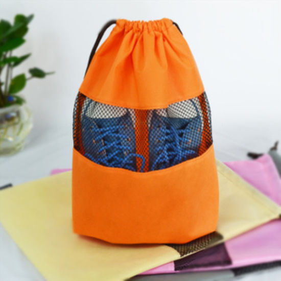 Fashion Polyster/Non Woven Travel Shoes Bag Dust Bag with Handle
