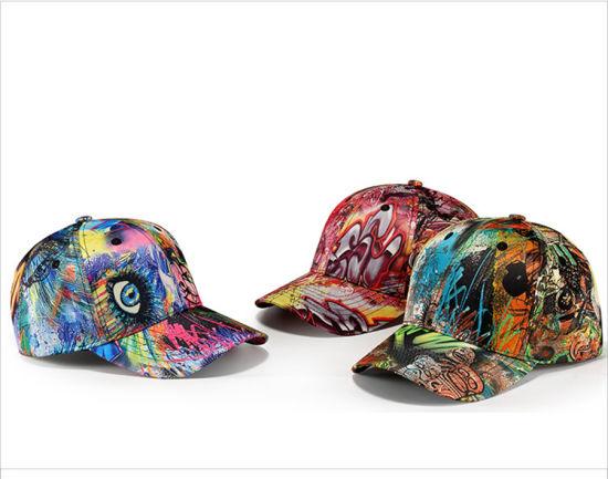 Colorful Sublimation Printing 6 Panel Baseball Cap