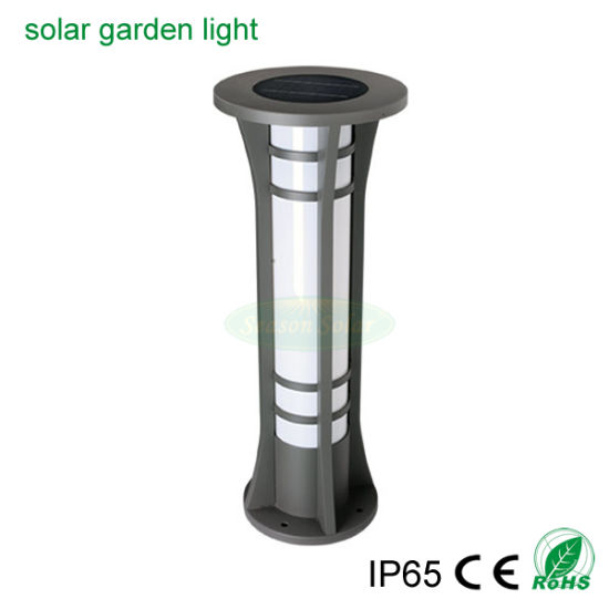 High Power LED Lighting Outdoor Solar Garden Light Waterproof Smart Multi-Color Bollard Garden Light
