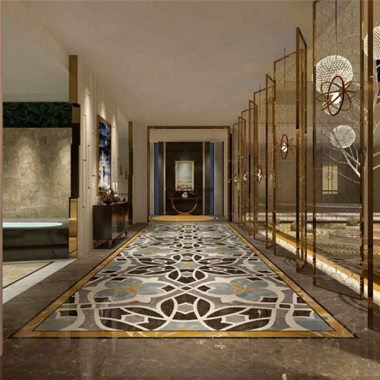 China Hot Sale Hallway Flooring Design Waterjet Porcelain Tile ...