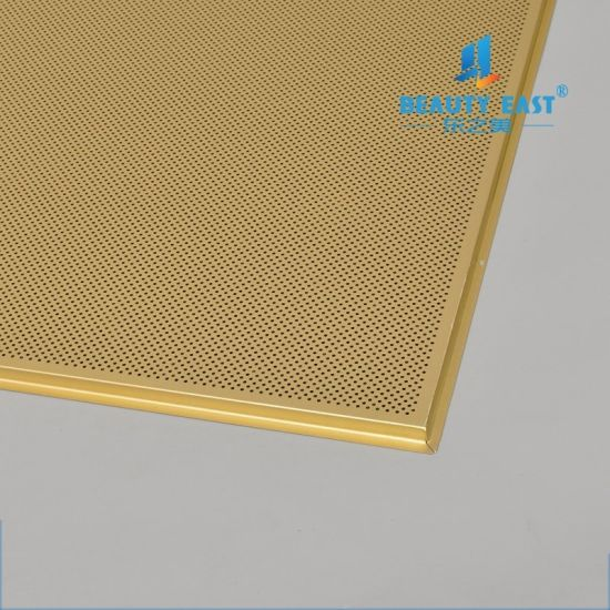 Waterproof Soundproof 575x595mm Lay In Tile Aluminum Ceiling Panel