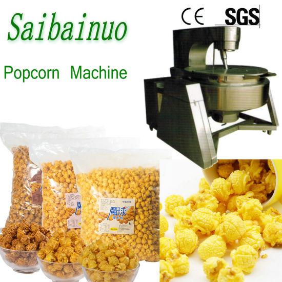 Caramel Spherical Popcorn Machine Plant
