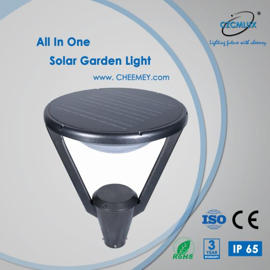 12W Endurable LED Solar Garden Light for Decoration with Lithium Battery