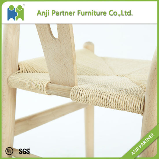 Nordic White Wax Wood Good Quality Dining Chair (Andrea) pictures & photos