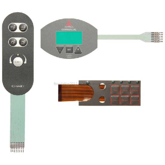 Silk Screen Tactile LED Connector Membrane Panel Keyboard